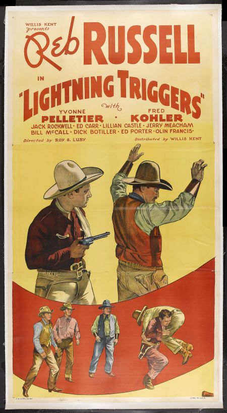 Jack Rockwell and Reb Russell in Lightning Triggers (1935)