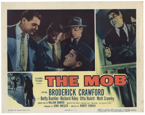 Ernest Borgnine, Broderick Crawford, and Neville Brand in The Mob (1951)