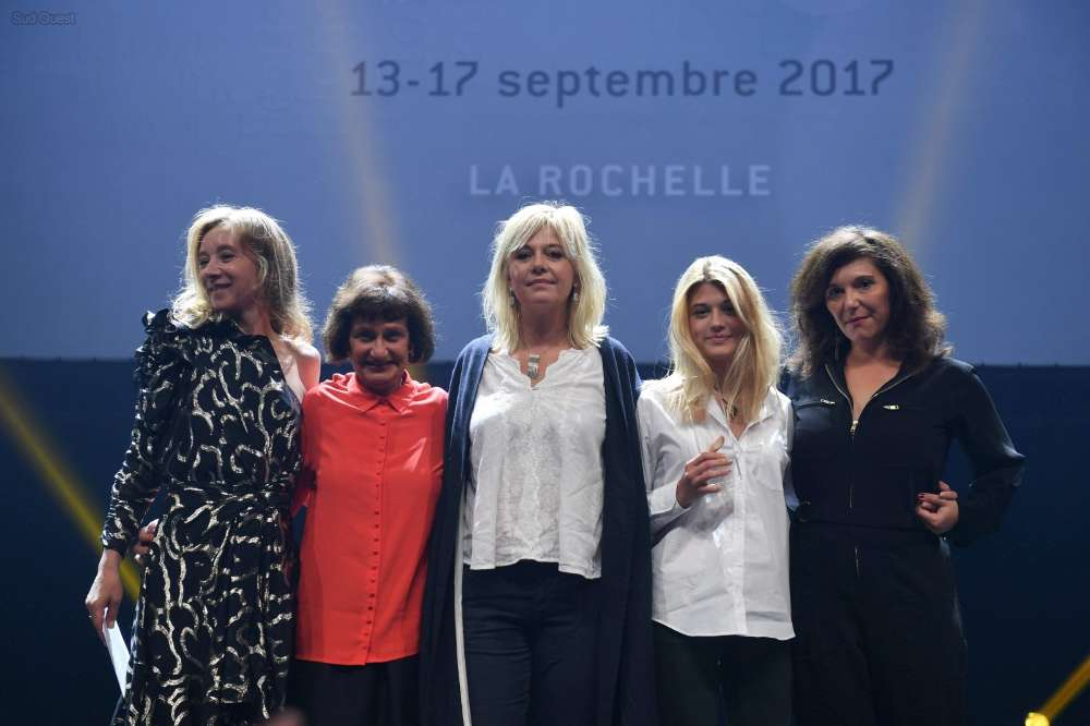 Magaly Richard-Serrano, Sylvie Testud, Flavie Flament, and Lou Gable at an event for La Consolation (2017)