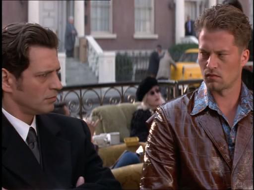 Til Schweiger and Fabrizio Bentivoglio in Magicians (2000)