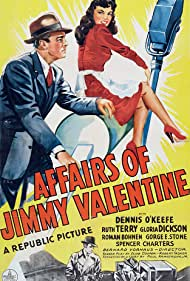 Dennis O'Keefe and Ruth Terry in The Affairs of Jimmy Valentine (1942)