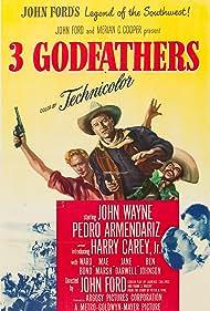 John Wayne, Pedro Armendáriz, Harry Carey Jr., and Dorothy Ford in 3 Godfathers (1948)