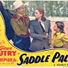 Gene Autry, Lynne Roberts, and Jean Van in Saddle Pals (1947)