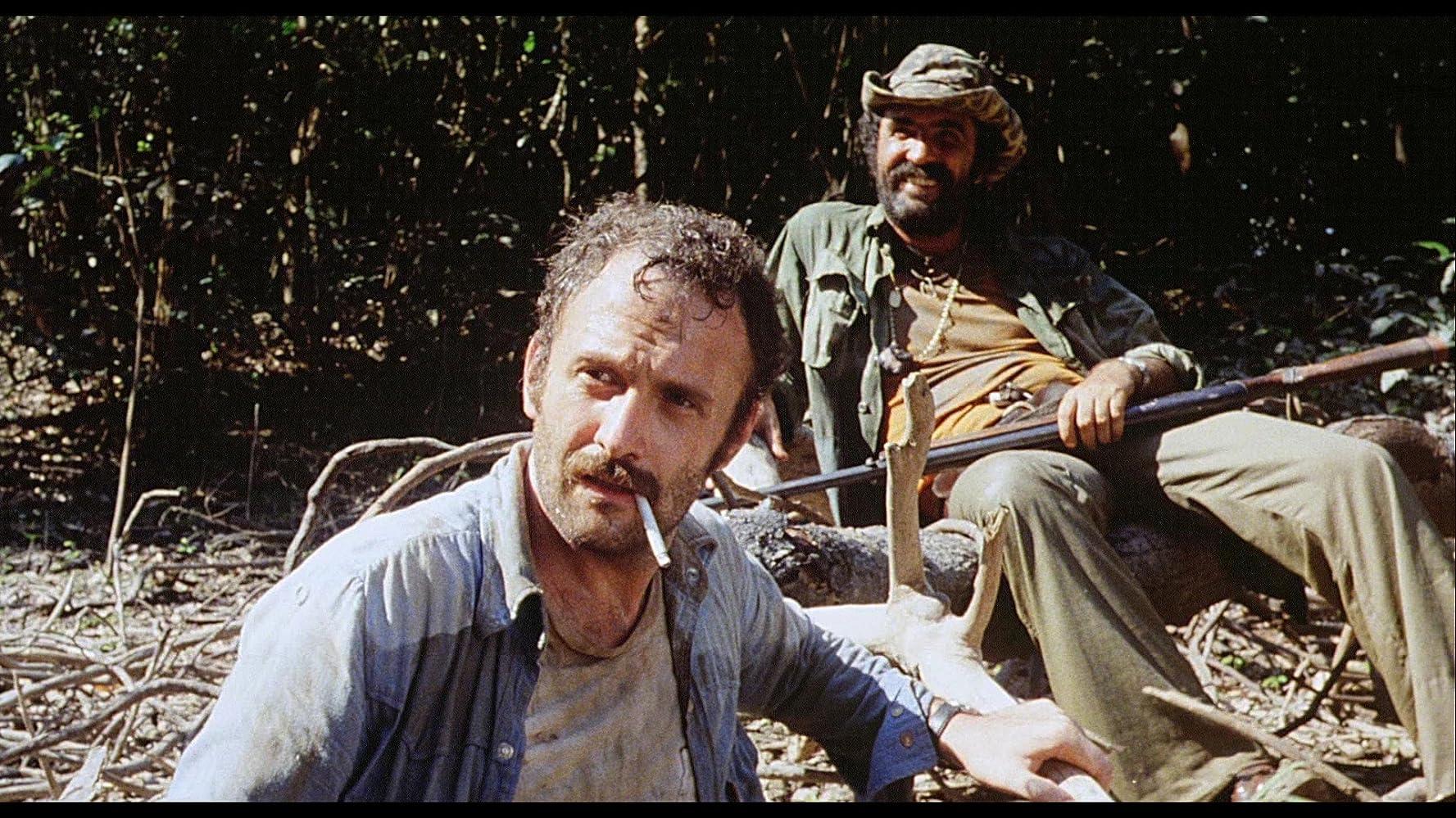 Salvatore Basile and Robert Kerman in Cannibal Holocaust (1980)