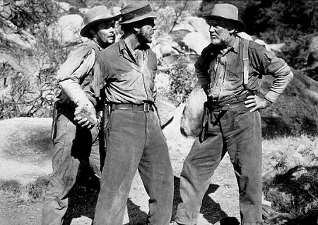 """The Treasure of the Sierra Madre"" Tim Holt, Humphrey Bogart, and Walter Huston 1948 Warner Bros."