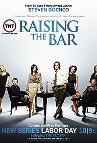 Mark-Paul Gosselaar, Gloria Reuben, Natalia Cigliuti, Jane Kaczmarek, J. August Richards, Melissa Sagemiller, and Jonathan Scarfe in Raising the Bar (2008)