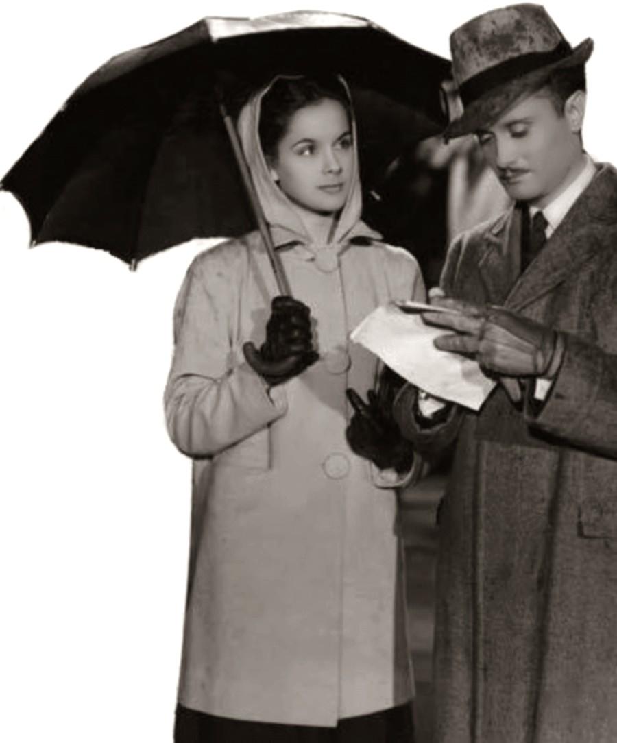 Delia Garcés and Esteban Serrador in Dama de compañía (1940)