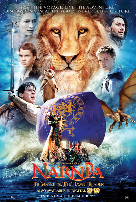The Chronicles of Narnia: The Voyage of the Dawn Treader 2010 Hindi Dual Audio 420MB BluRay ESubs Download