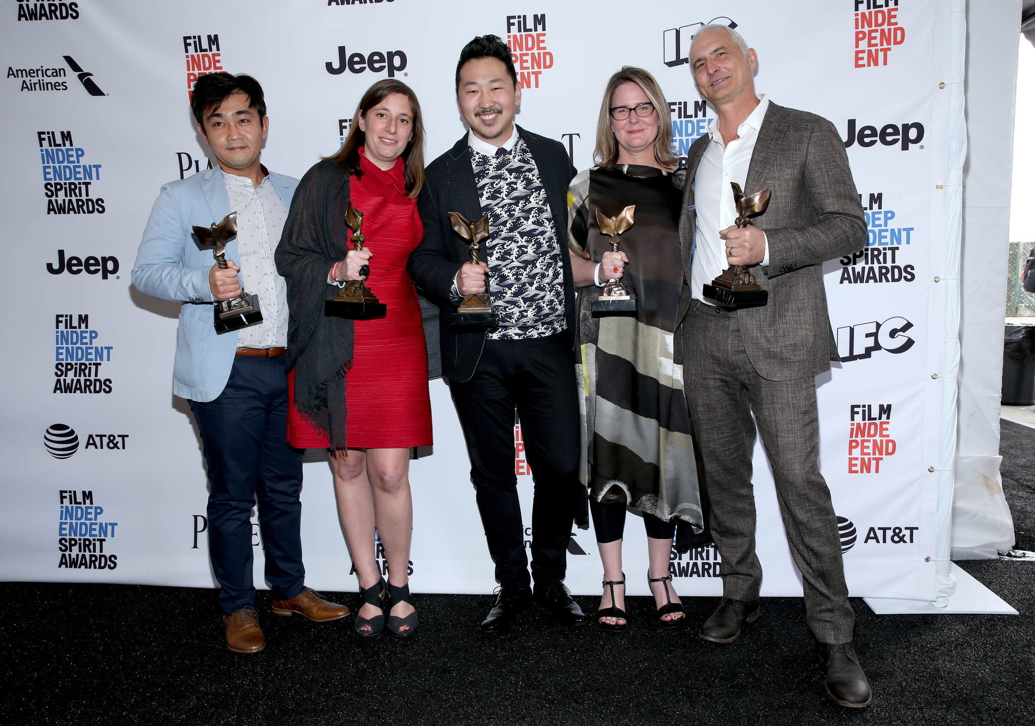 David Ariniello, Kelly Thomas, Jin Kim, Ki Jin Kim, Andrew Ahn, and Giulia Caruso at an event for 32nd Film Independent Spirit Awards (2017)