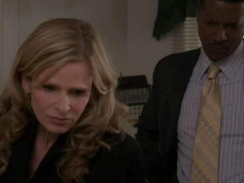 Kyra Sedgwick and Corey Reynolds in The Closer (2005)