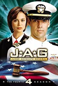 Catherine Bell and David James Elliott in JAG (1995)