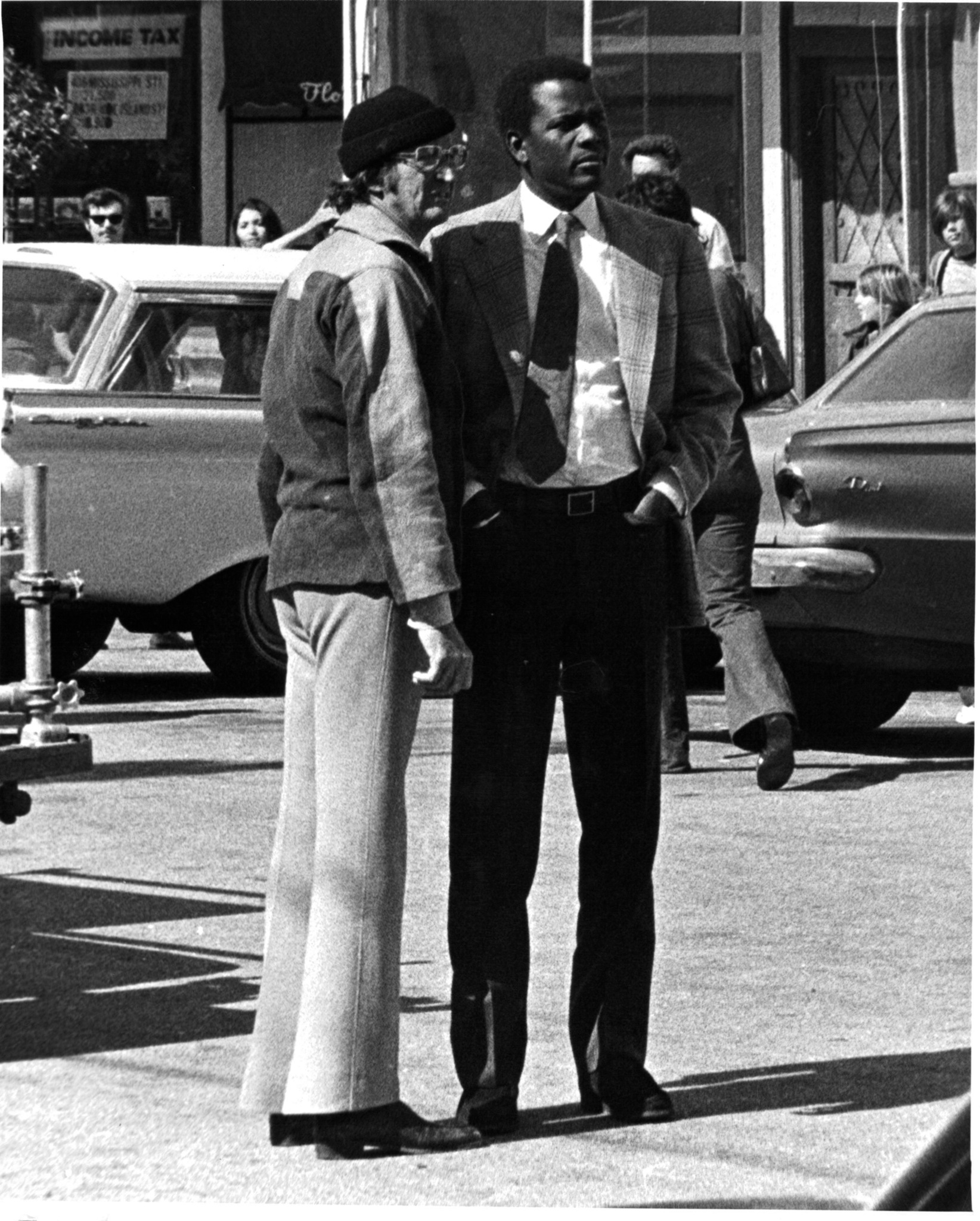 Sidney Poitier and Don Medford in The Organization (1971)