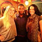 """""""Five Nights In Maine"""", on set with actors Faith Fay and David Oyelowo."""