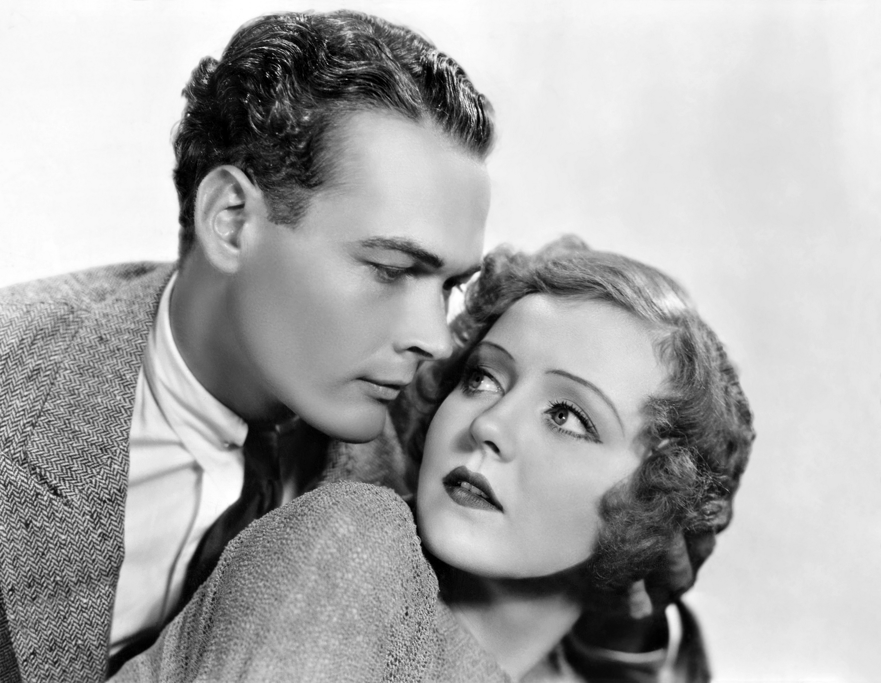 Nancy Carroll and Edward Woods in Hot Saturday (1932)