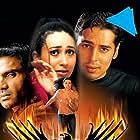 Karisma Kapoor, Dino Morea, and Suniel Shetty in Baaz: A Bird in Danger (2003)
