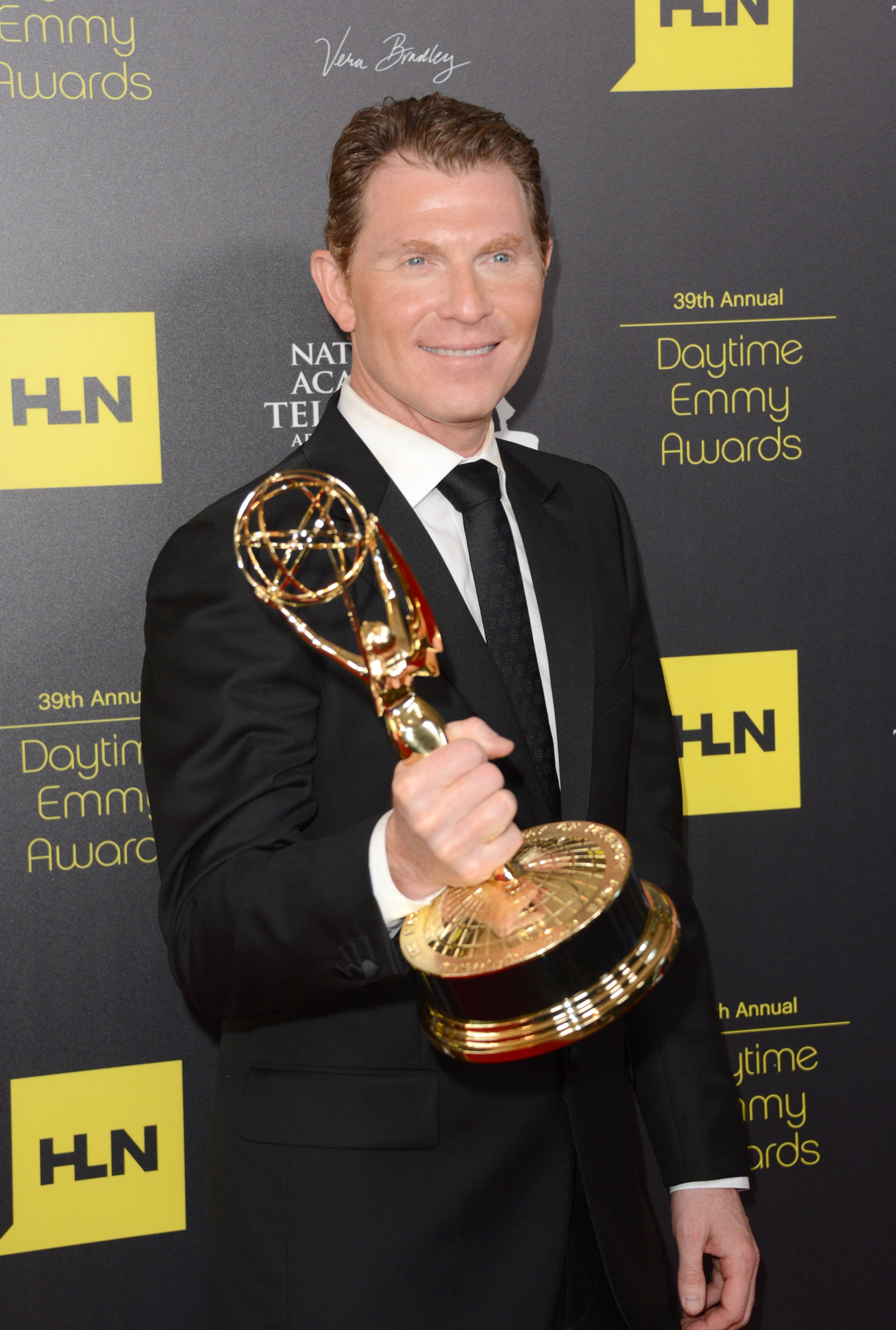 BEVERLY HILLS, CA - JUNE 23: Bobby Flay poses in the press room at The 39th Annual Daytime Emmy Awards from Executive Producer Gabriel Gornell of LocoDistro and broadcast on HLN held at The Beverly Hilton Hotel on June 23, 2012 in Beverly Hills, California.