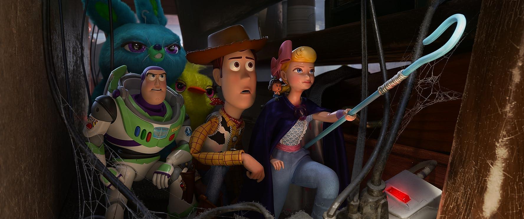 Tom Hanks, Tim Allen, Annie Potts, Keegan-Michael Key, and Jordan Peele in Toy Story 4 (2019)
