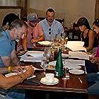 Cast table read for Fare (2016).