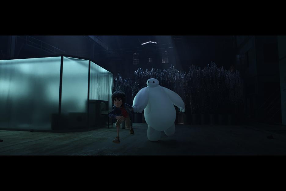 Scott Adsit and Ryan Potter in Big Hero 6 (2014)