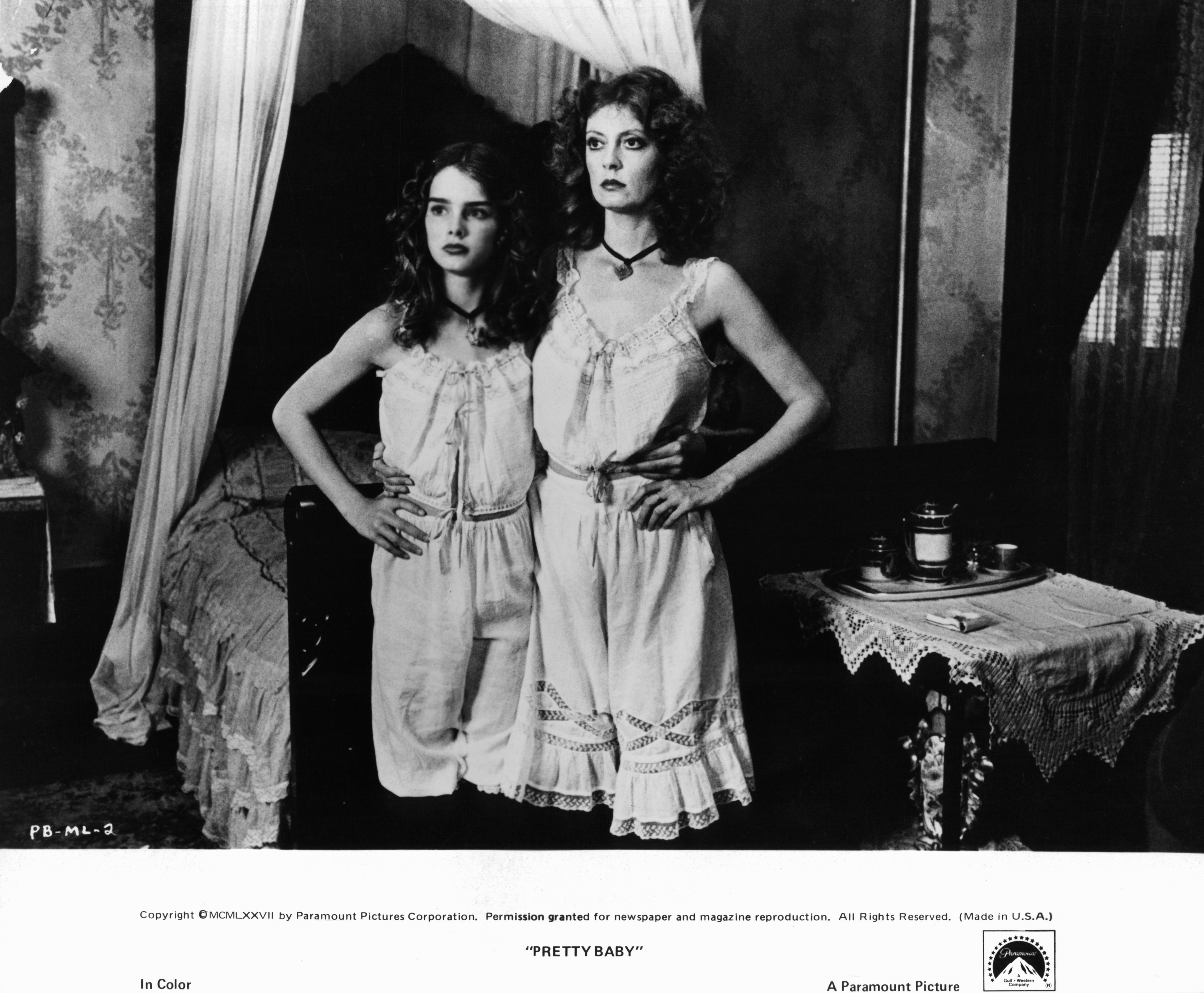 Susan Sarandon and Brooke Shields in Pretty Baby (1978)