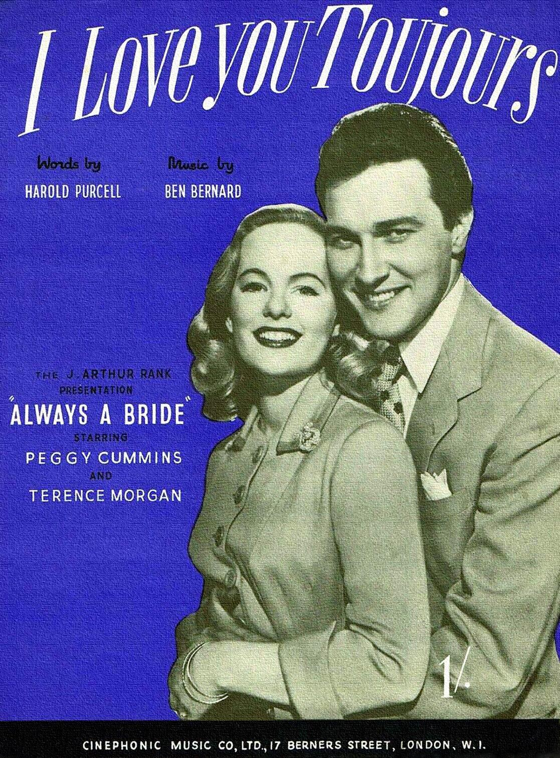 Peggy Cummins and Terence Morgan in Always a Bride (1953)
