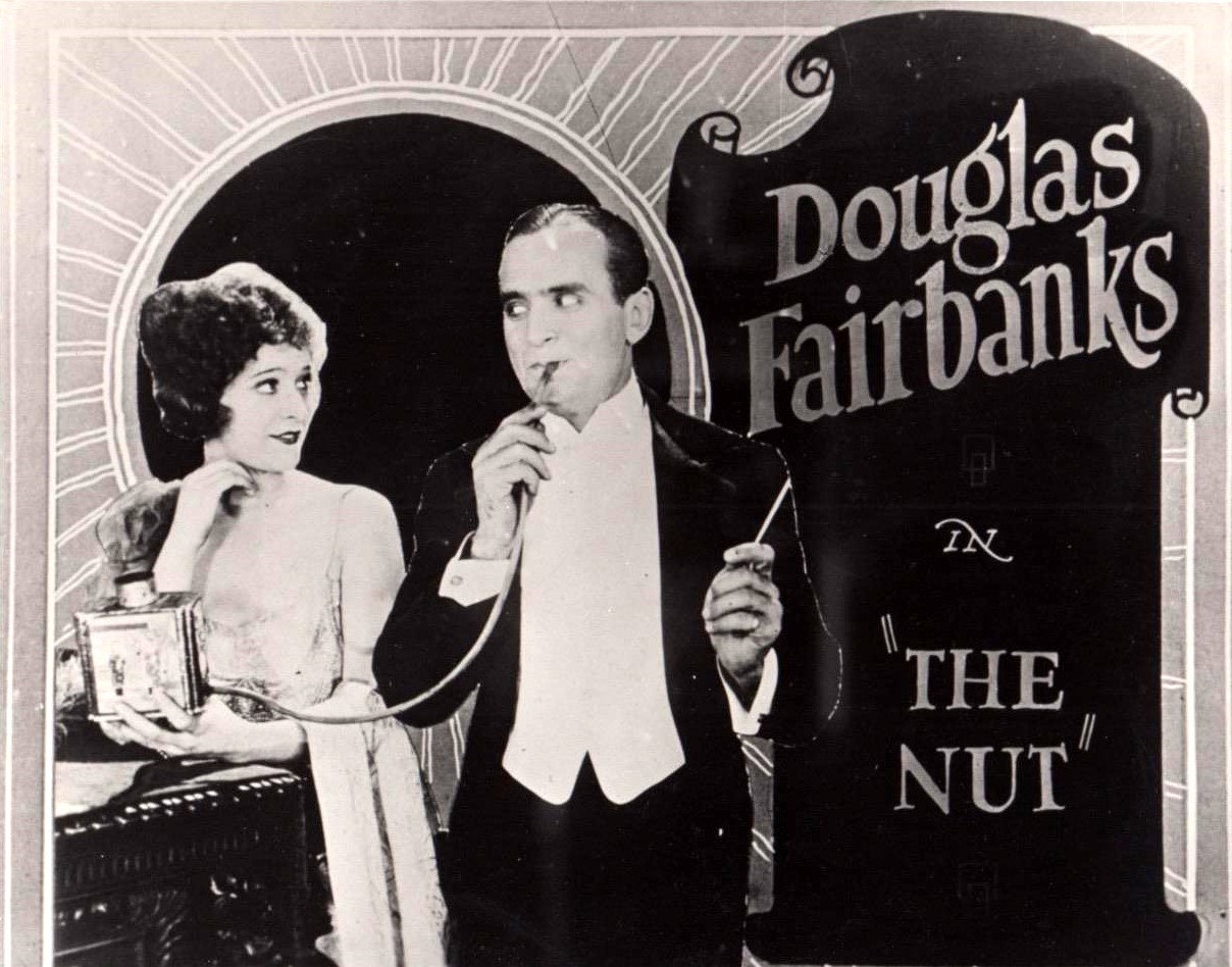 Douglas Fairbanks and Marguerite De La Motte in The Nut (1921)