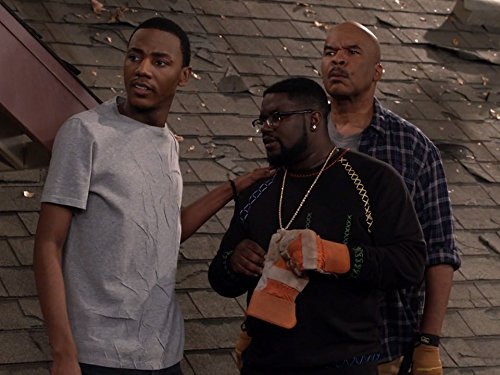David Alan Grier, Lil Rel Howery, and Jerrod Carmichael in The Carmichael Show (2015)
