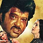 Anil Kapoor, Nutan, and Meenakshi Sheshadri in Meri Jung (1985)