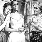 Enedina Díaz de León, Sara Montiel, and Dalia Íñiguez in Frente al pecado de ayer (1955)
