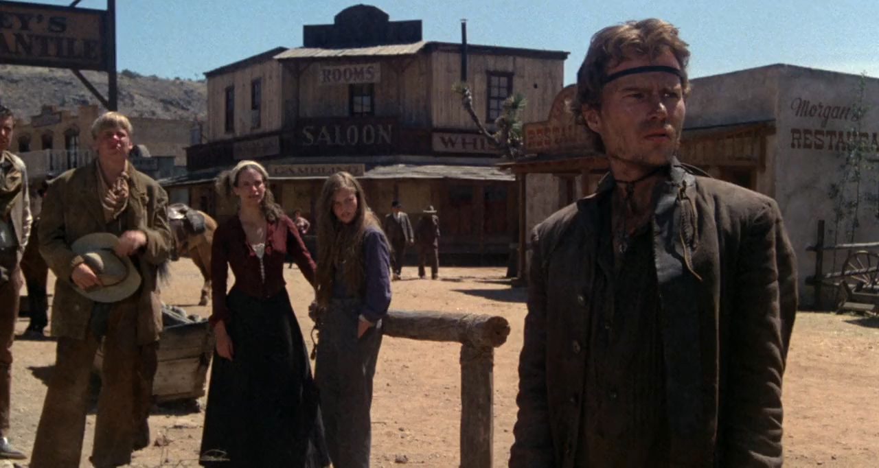 Diane Lane, Amanda Plummer, John Savage, and Perry Lang in Cattle Annie and Little Britches (1980)