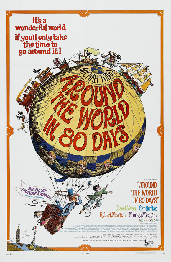 David Niven and Cantinflas in Around the World in 80 Days (1956)