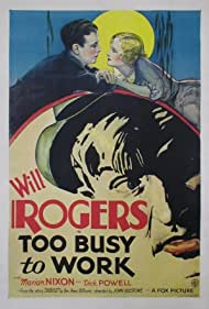 Marian Nixon, Dick Powell, and Will Rogers in Too Busy to Work (1932)