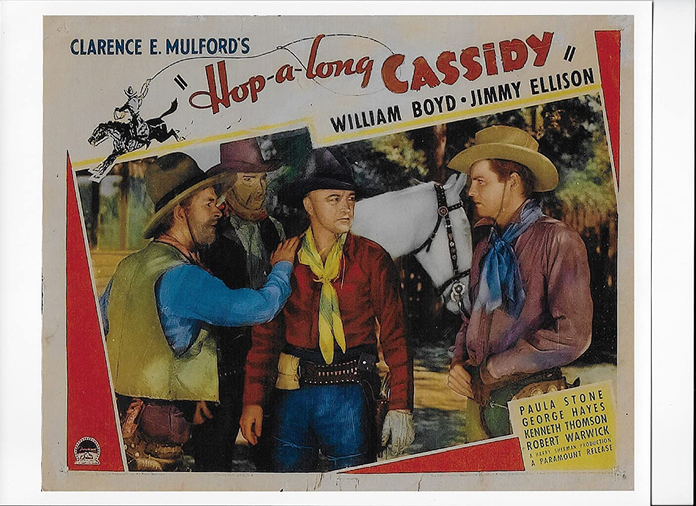 William Boyd, James Ellison, George 'Gabby' Hayes, and Frank McGlynn Jr. in Hop-a-Long Cassidy (1935)