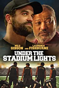 Laurence Fishburne, Carter Redwood, Milo Gibson, Adrian Favela, Acoryé White, and Germain Arroyo in Under the Stadium Lights (2021)