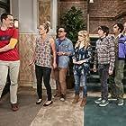 Kaley Cuoco, Johnny Galecki, Simon Helberg, Jim Parsons, Riki Lindhome, Melissa Rauch, and Kunal Nayyar in The Big Bang Theory (2007)