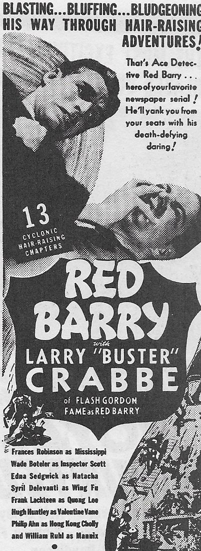 Buster Crabbe and Tom Steele in Red Barry (1938)