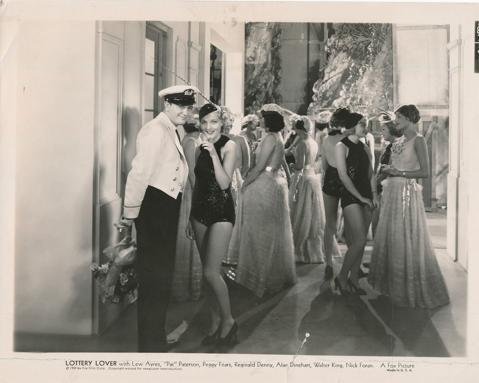 Lew Ayres, Alyce Ardell, Marie Burton, Peggy Fears, and Pat Paterson in Lottery Lover (1935)