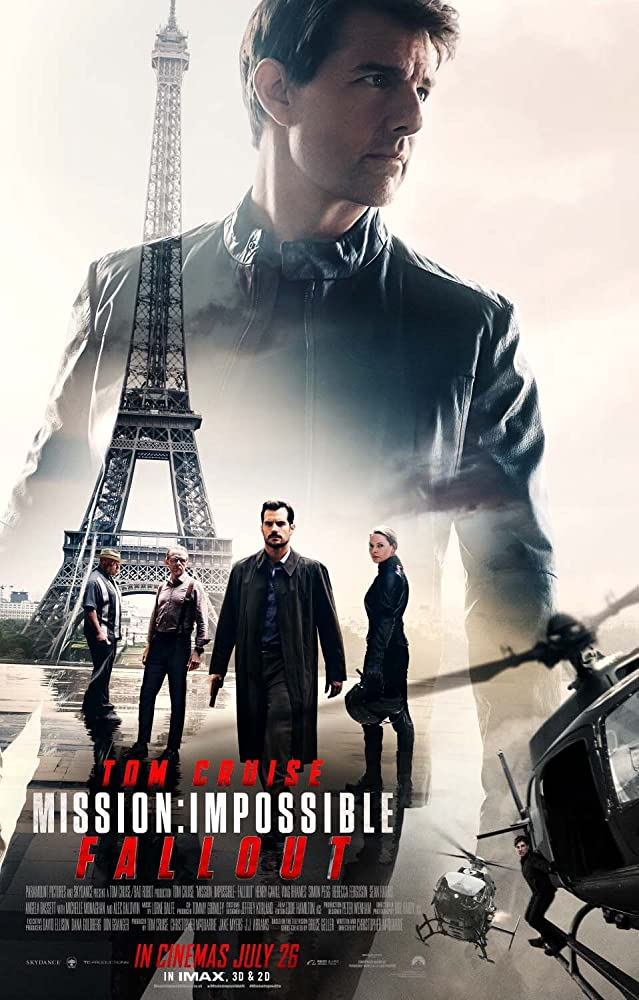 Tom Cruise Ving Rhames Henry Cavill Rebecca Ferguson and Simon Pegg in Mission Impossible - Fallout 2018