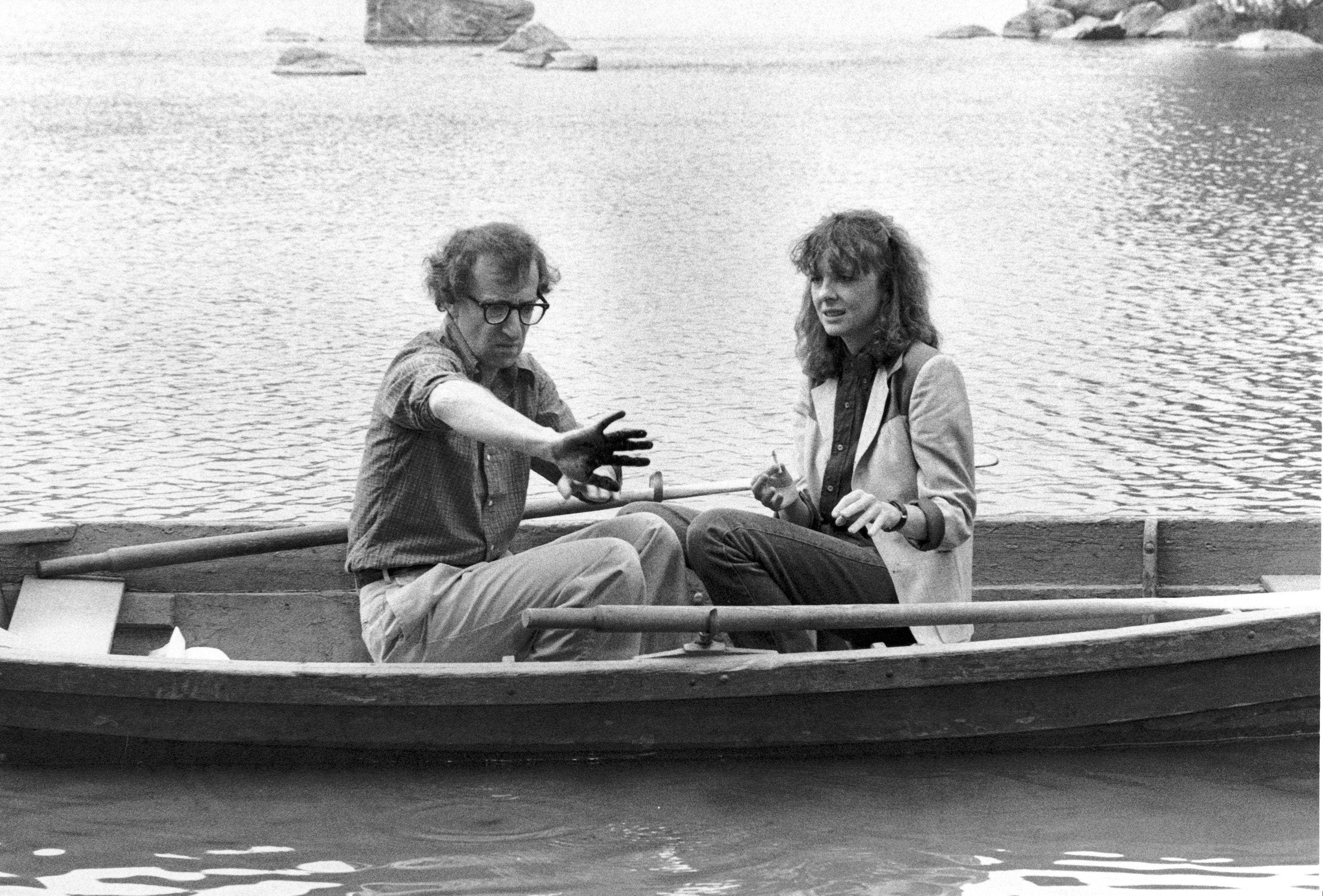 Woody Allen and Diane Keaton in Manhattan (1979)