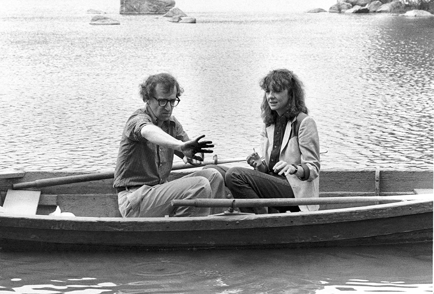 Woody Allen and Diane Keaton in Manhattan (1979)