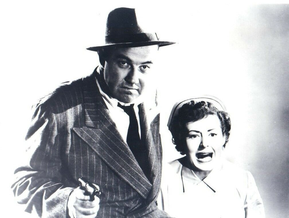 Broderick Crawford and Betty Buehler in The Mob (1951)