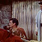 Victor Mature, Debra Paget, and Michael Rennie in Demetrius and the Gladiators (1954)