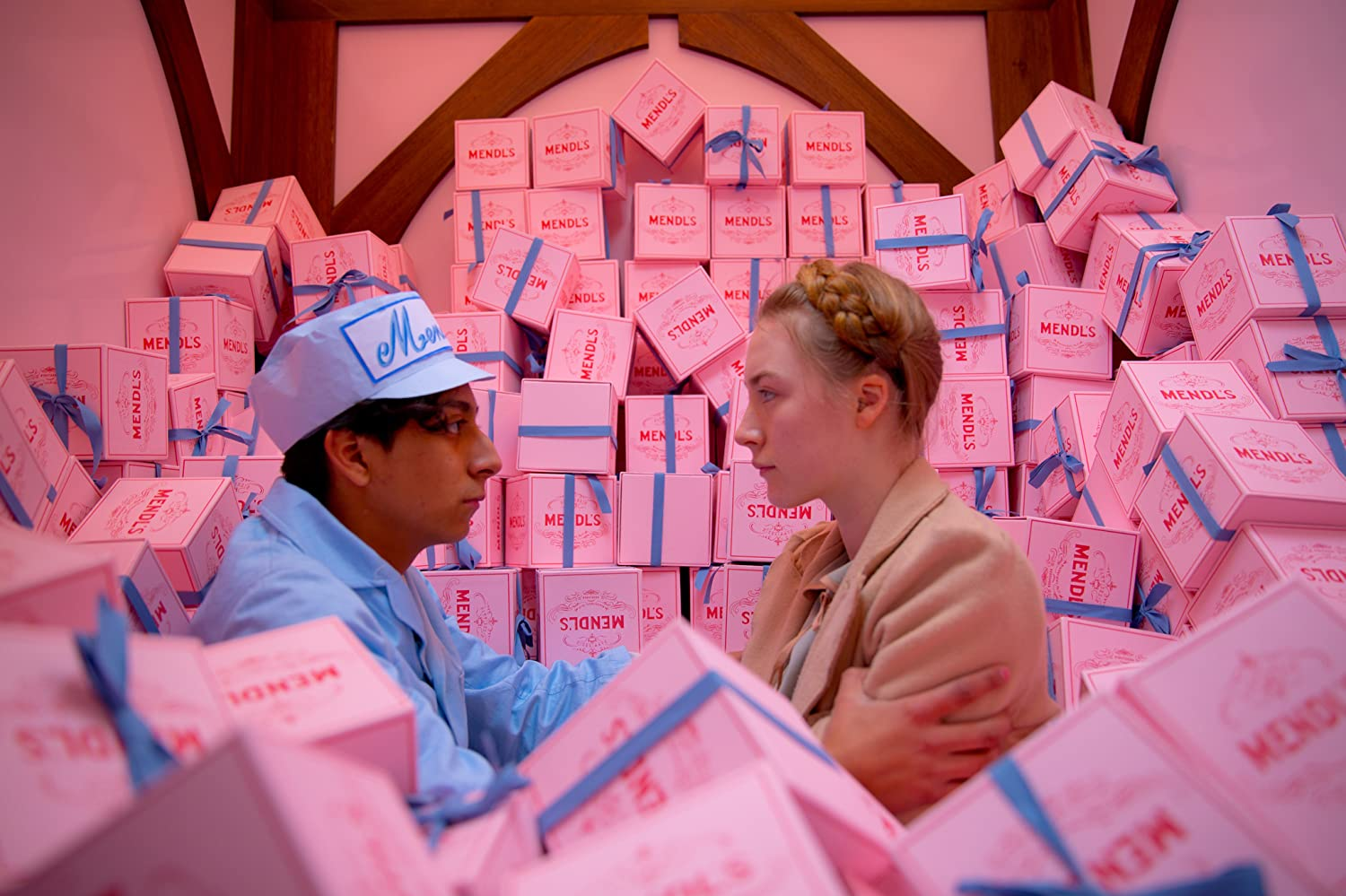 Saoirse Ronan and Tony Revolori in The Grand Budapest Hotel (2014)
