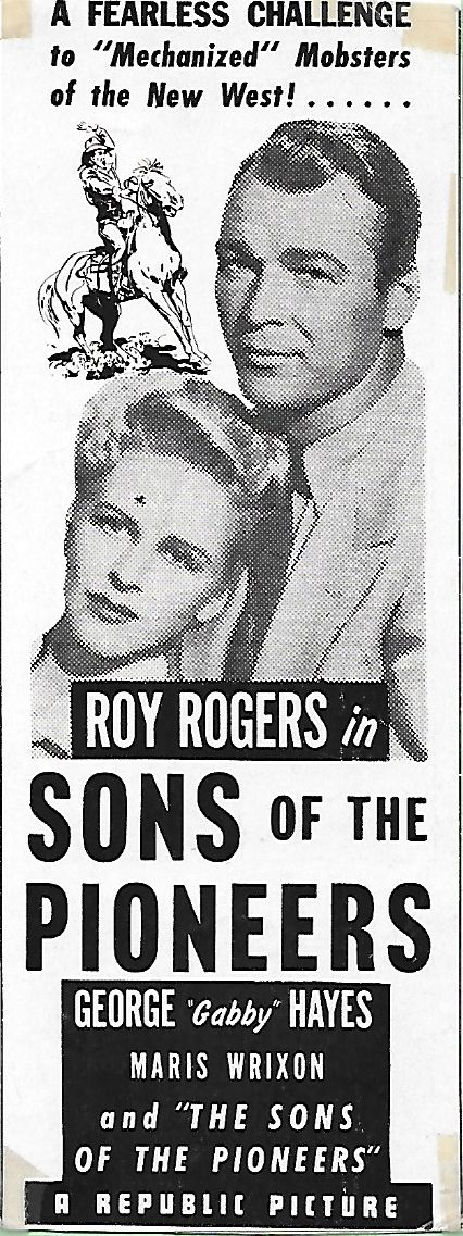 Roy Rogers and Maris Wrixon in Sons of the Pioneers (1942)