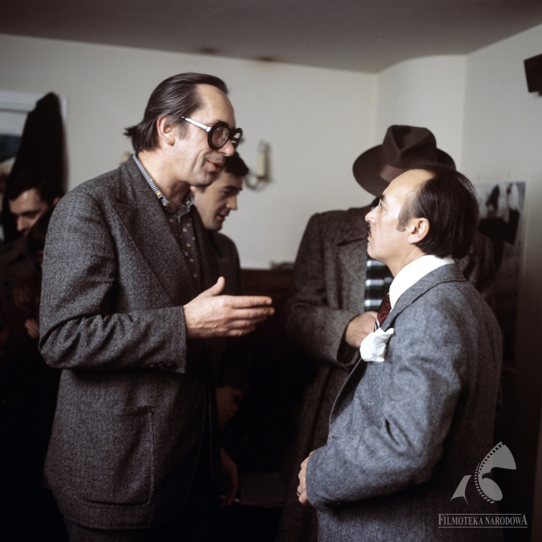 Wieslaw Michnikowski and Janusz Rzeszewski in Hallo Szpicbródka, czyli ostatni wystep króla kasiarzy (1978)
