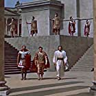 Victor Mature, William Marshall, and Michael Rennie in Demetrius and the Gladiators (1954)