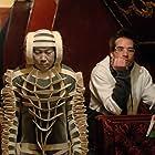 "Martin Villeneuve on the set of his sci-fi film ""Mars et Avril"""