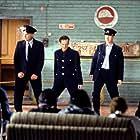 Robert Carlyle, Paul Barber, Steve Huison, Hugo Speer, and Tom Wilkinson in The Full Monty (1997)