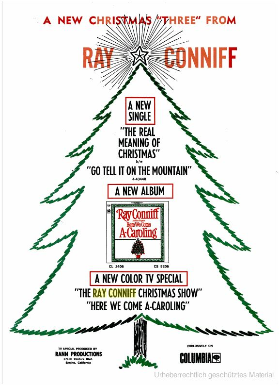 the ray conniff christmas show here we come a caroling 1965 - Ray Conniff Christmas