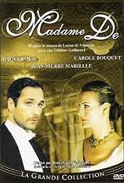 Madame De... Poster